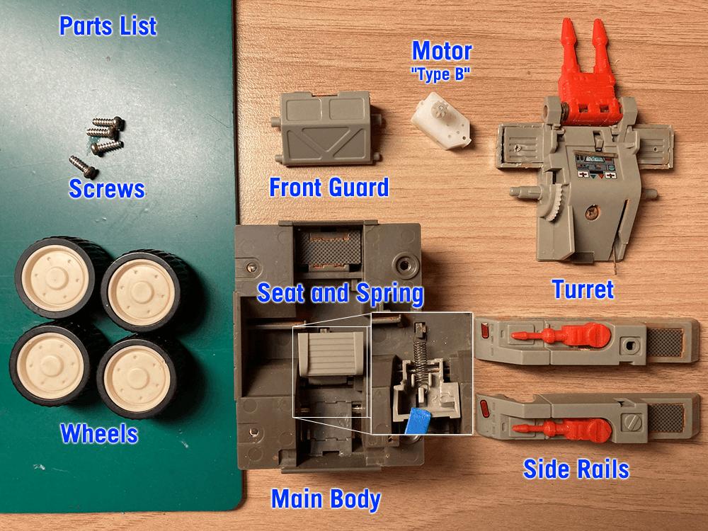 Laser Rat Parts list