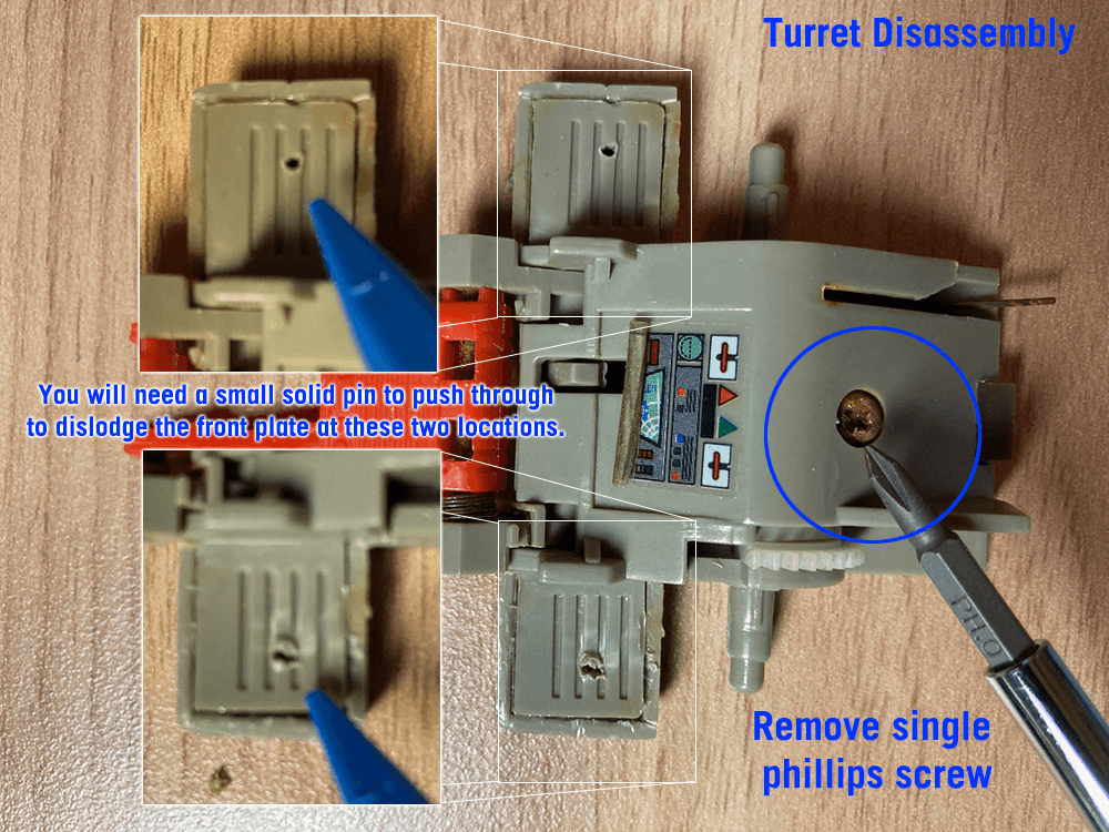 Turret disassembly