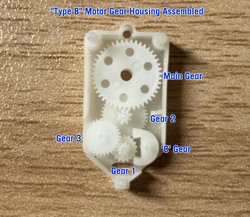 'Type B' Motor Gear Assembly